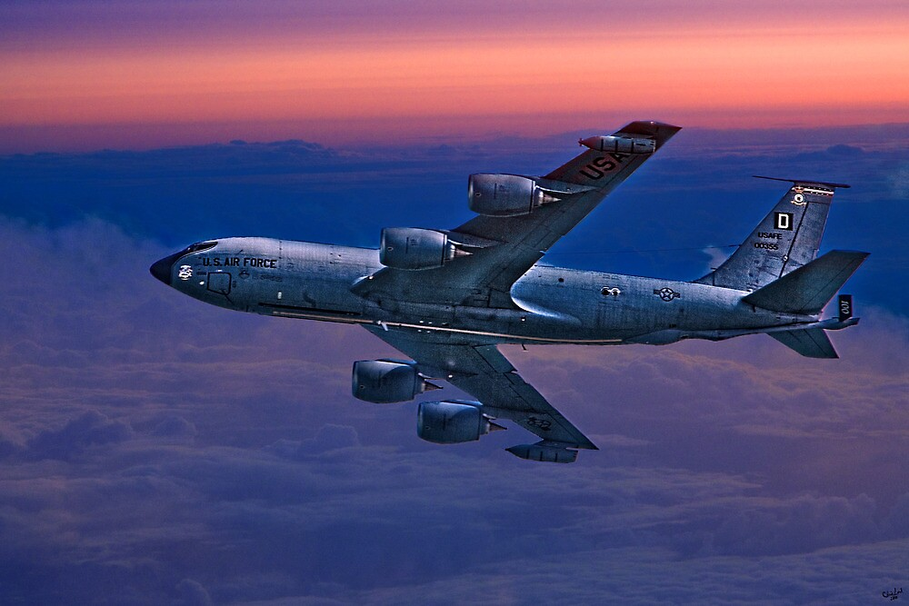USAF Supertanker Flies On A Dawn Mission by Chris Lord