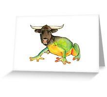 Bullfrog Greeting Card