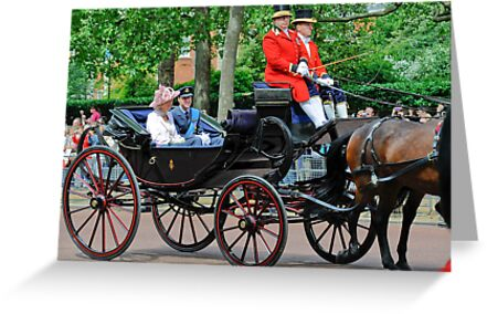 Prince William and Princess Alexandra: Trooping the Colour 2010 by DonDavisUK