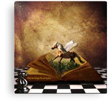 Give me Wings & Set me Free Canvas Print