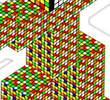 rubik's cube building Sticker
