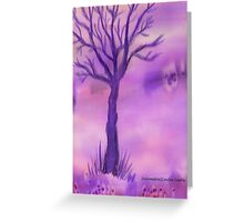 Purple Tree Greeting Card