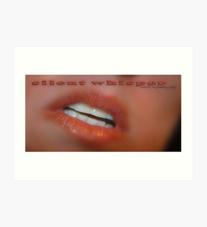 SILENT WHISPER © Vicki Ferrari Art Print