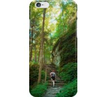 Cliff Side Stairs on Rim Trail of Robert Treman iPhone Case/Skin