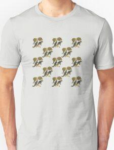 dino black pattern Unisex T-Shirt