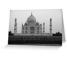 Taj Mahal in black and white Greeting Card