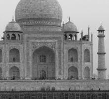 Taj Mahal in black and white Sticker