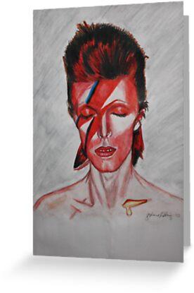 David Bowie - Aladdin Sane by essenn
