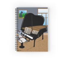 Kitty Piano Practice Spiral Notebook