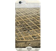 Bird's Eye View of the City of Denison Texas 1873 iPhone Case/Skin