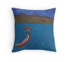 King of Red Lions Throw Pillow
