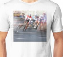 Group of Cyclists Head into the Final Lap Unisex T-Shirt