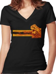 Aztec roots Women's Fitted V-Neck T-Shirt