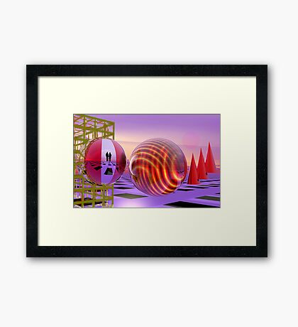 The red planet Framed Print