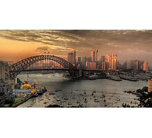 Painted Skies - Sydney Harbour, Sydney Australia(28 Exposure HDR Panoramic) - The HDR Experience Photographic Print