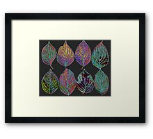 Glowing Pattern of Leaves Framed Print