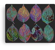 Glowing Pattern of Leaves Canvas Print