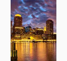 Sun dusk over Boston Harbor  Unisex T-Shirt