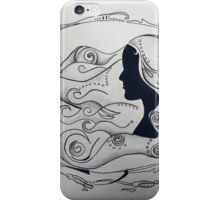 flow of hair iPhone Case/Skin