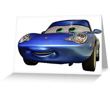 """Sally Carrera"" from Pixar's ""Cars"" - Porsche Museum Greeting Card"