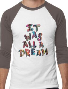 NOTORIOUS B.I.G. IT WAS ALL A DREAM GRAPHIC T SHIRT Men's Baseball ¾ T-Shirt