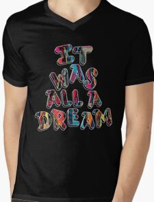 NOTORIOUS B.I.G. IT WAS ALL A DREAM GRAPHIC T SHIRT Mens V-Neck T-Shirt