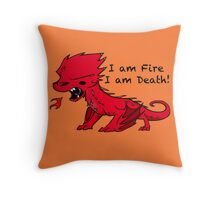 Baby Smaug - I am Fire, I am Death Throw Pillow
