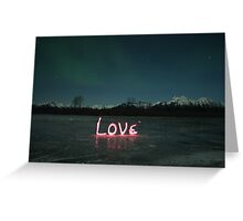 Love - Light Painting Greeting Card