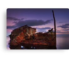 "Wreck of the steamship ""Henry Meakin"" Canvas Print"