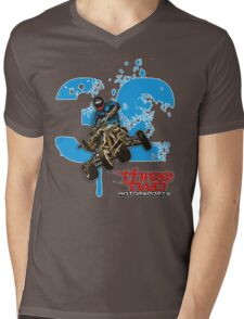 Three2 Signature Mens V-Neck T-Shirt