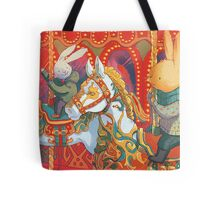 Rabbits at the Fairground Tote Bag