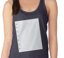 notebook paper Women's Tank Top