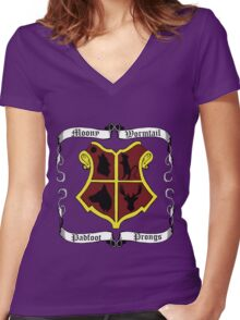 Marauders Women's Fitted V-Neck T-Shirt