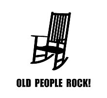 Old People Rock Photographic Print