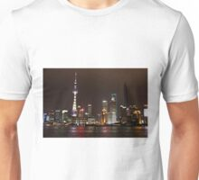 Shanghai Skyline at Night Unisex T-Shirt