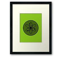 Atom in Circle Framed Print
