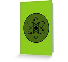 Atom in Circle Greeting Card