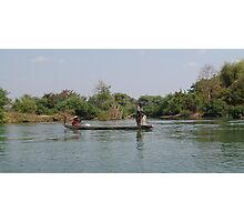 Fishing on the Mae Nam Khong River Photographic Print