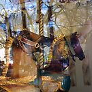 Carousel- Horses at Saratoga  by cozboz