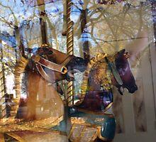 Carousel- Horses at Saratoga  by cozboz