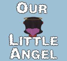 Our Little Angel Sitting on Cloud Black Hair Girl Baby Tee