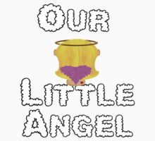 Our Little Angel Sitting on Cloud Blonde Girl One Piece - Long Sleeve