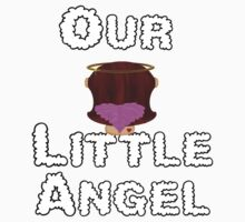 Our Little Angel Sitting on Cloud Brown Hair Girl One Piece - Short Sleeve