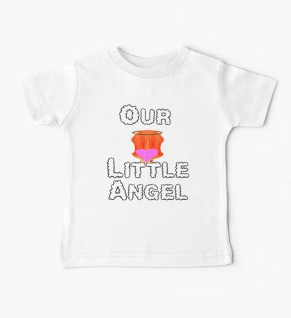Our Little Angel Sitting on Cloud Red Head Girl Baby Tee