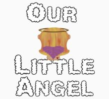 Our Little Angel Sitting on Cloud Strawberry Blonde Girl Baby Tee