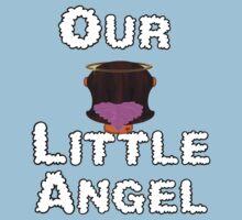 Our Little Angel Sitting on Cloud Brunette Hair Girl Baby Tee