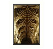Exeter Cathedral Roof Art Print
