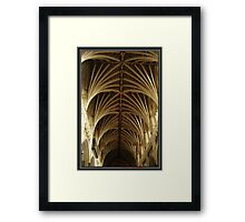 Exeter Cathedral Roof Framed Print