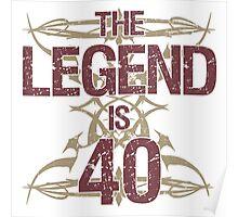 Men's Funny 40th Birthday Poster