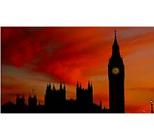 Fiery Silhouette Photographic Print